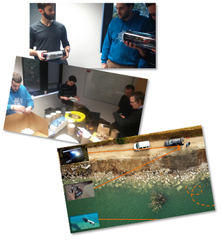 Aquadrone is an open source underwater ROV, for natural